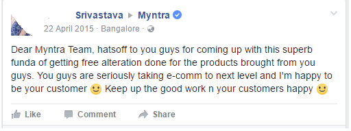 Myntra Tailoring it's way to Customer Delight!!