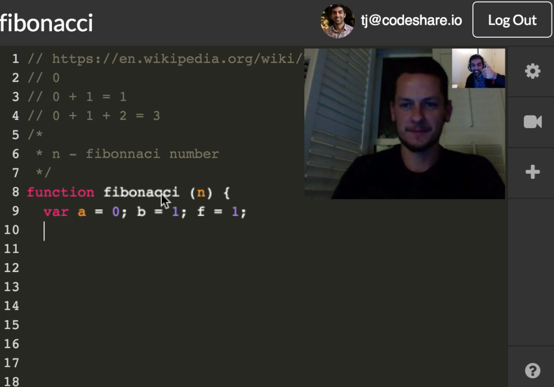 Real Time Communication in Code Sharing