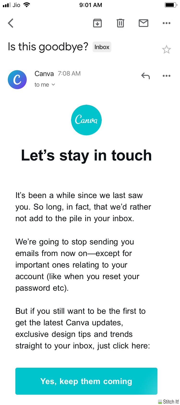 Brilliant Mailer Copy from Canva - Email Subscription