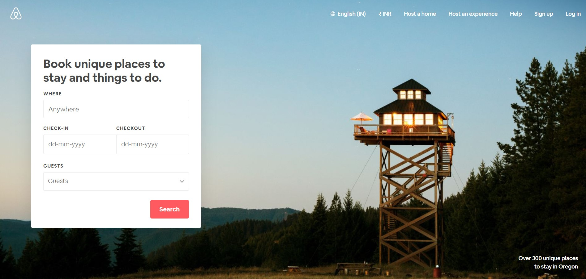 Airbnb - A perfect landing page