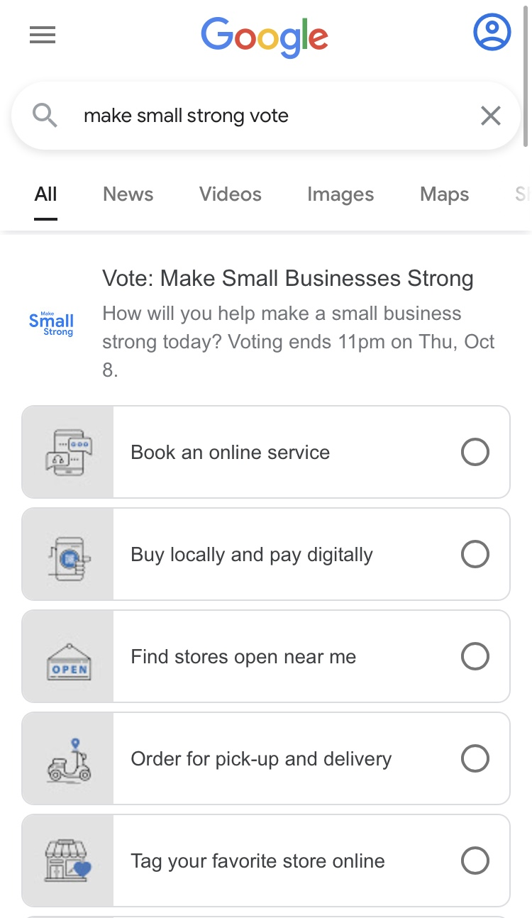 Google India's Make Small Strong Vote