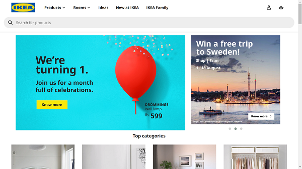 Ikea India Desktop Site Home Page