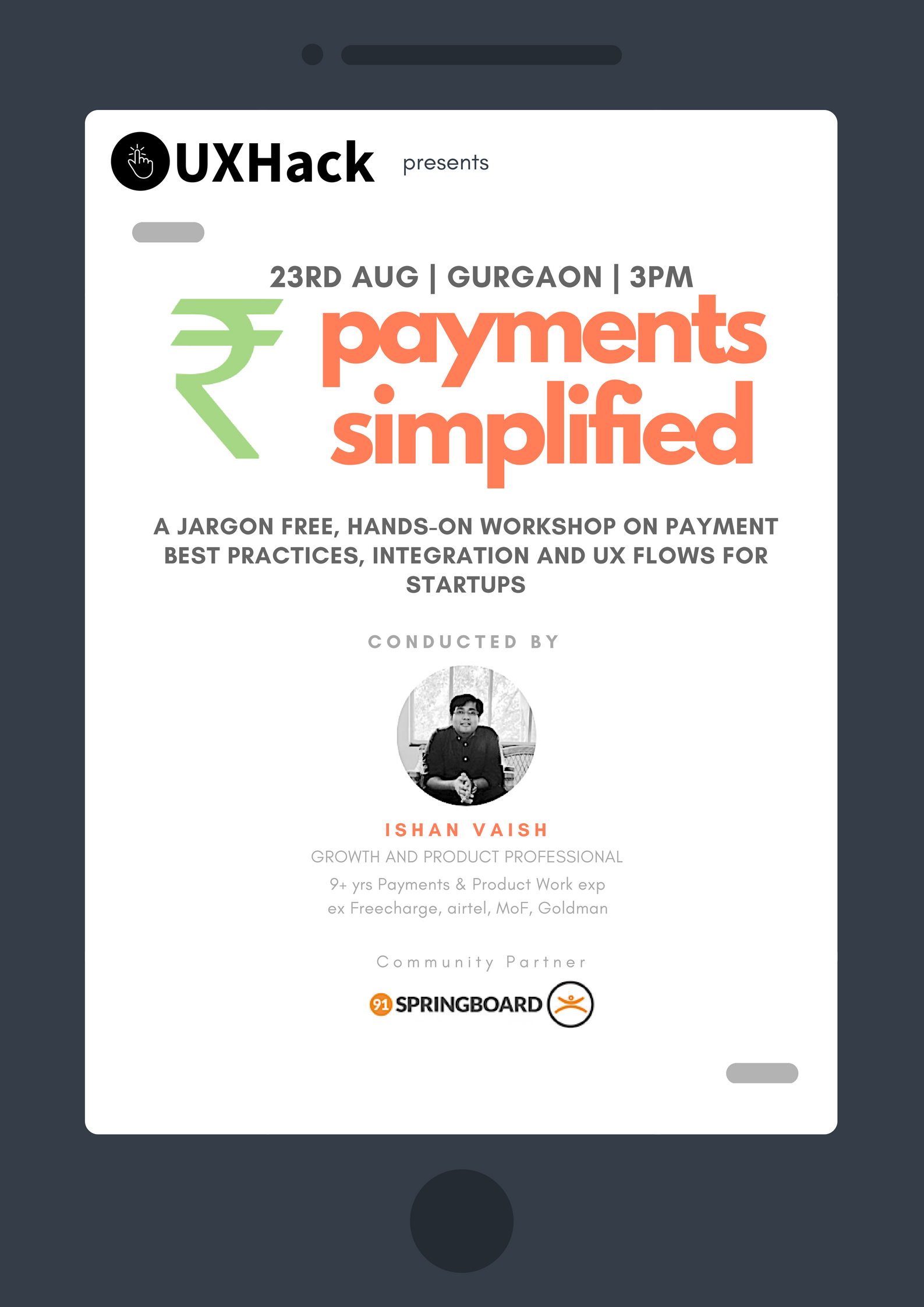 Payments Simplified for Startups banner